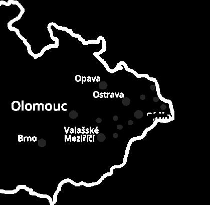 mapa autopůjčovna dodávek Ostrava
